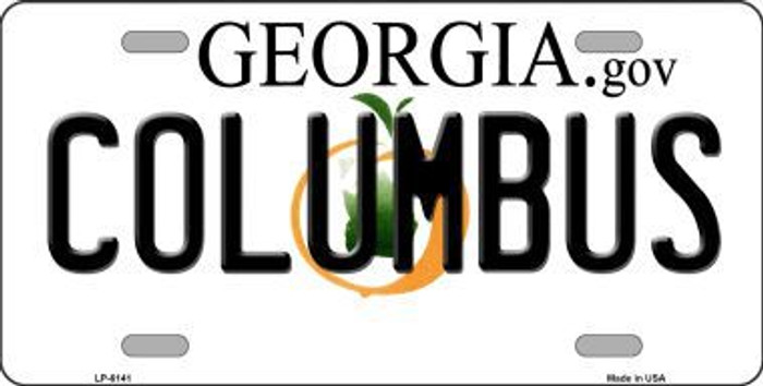 Columbus Georgia Novelty Metal License Plate