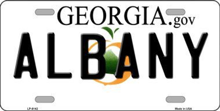 Albany Georgia Novelty Metal License Plate