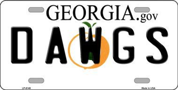 Dawgs Georgia Novelty Metal License Plate