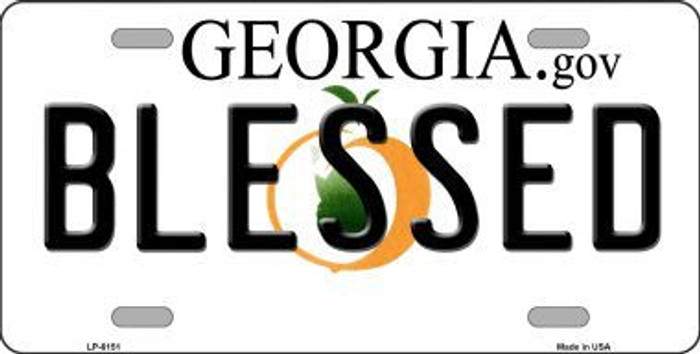 Blessed Georgia Novelty Metal License Plate