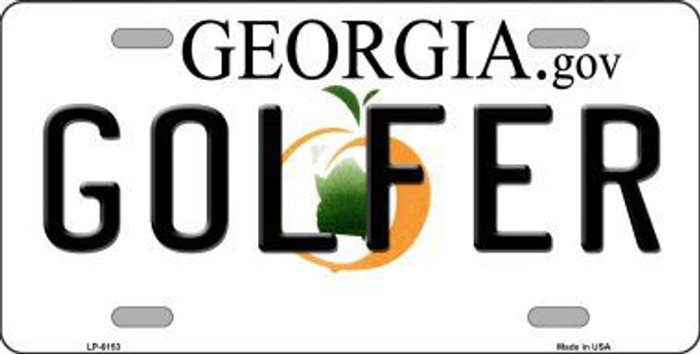 Golfer Georgia Novelty Metal License Plate