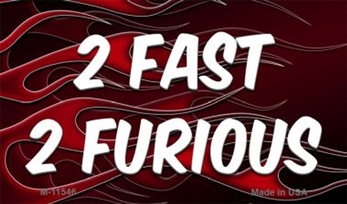 2 Fast 2 Furious Novelty Metal Magnet M-11546