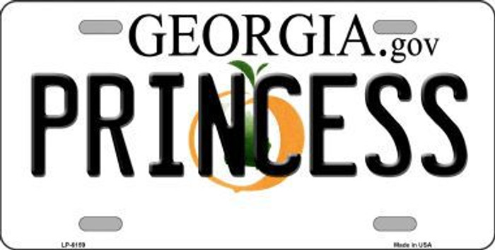 Princess Georgia Novelty Metal License Plate