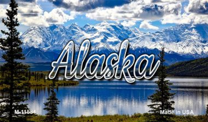 Alaska Snowy Mountains Magnet M-11584