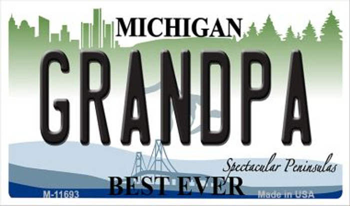 Grandpa Michigan Novelty Metal Magnet M-11693