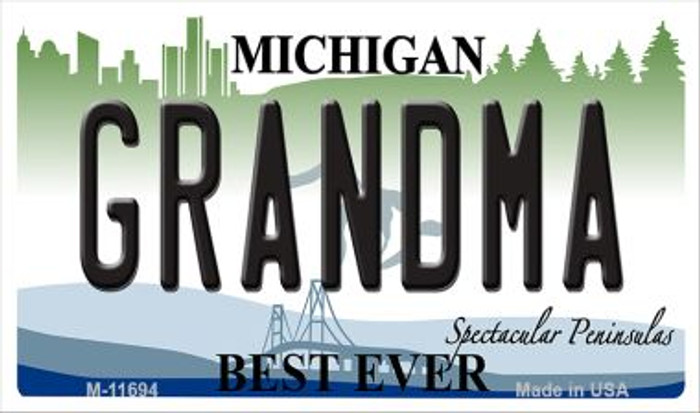 Grandma Michigan Novelty Metal Magnet M-11694