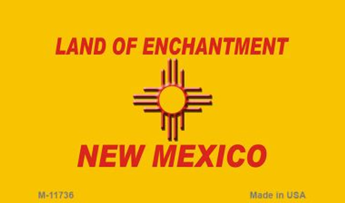 New Mexico Blank Yellow State Magnet M-11736