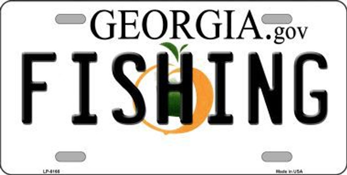 Fishing Georgia Novelty Metal License Plate