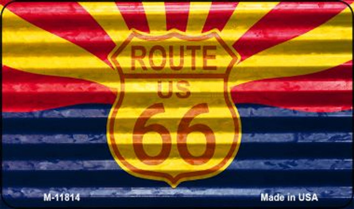 Arizona Route 66 Corrugated Novelty Metal Magnet M-11814