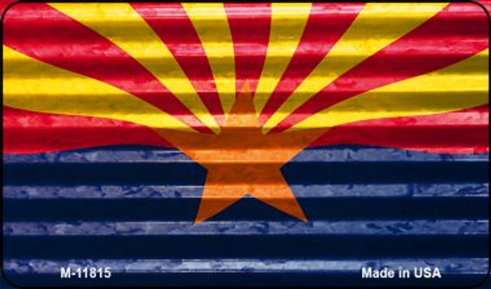Arizona Flag Corrugated Novelty Metal Magnet M-11815
