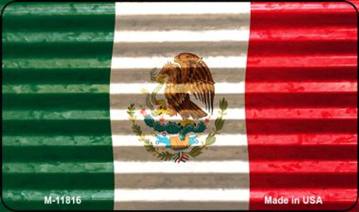 Mexico Flag Corrugated Novelty Metal Magnet M-11816