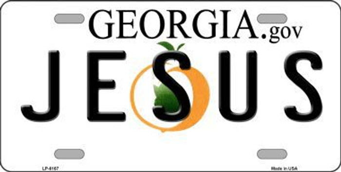 Jesus Georgia Novelty Metal License Plate
