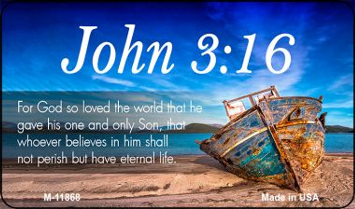 John 3 16 Novelty Metal Magnet M-11868