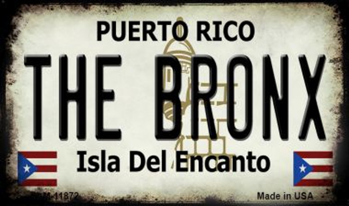 The Bronx Puerto Rico Novelty Metal Magnet M-11872