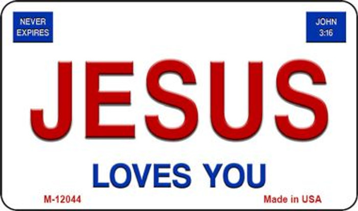 Jesus Loves You Novelty Metal Magnet M-12044