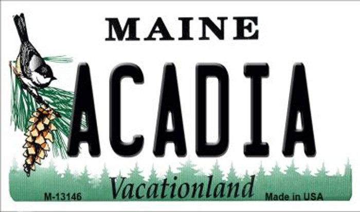 Acadia Maine Novelty Metal Magnet M-13146