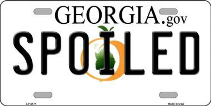 Spoiled Georgia Novelty Metal License Plate