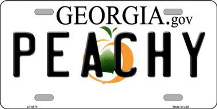 Peachy Georgia Novelty Metal License Plate