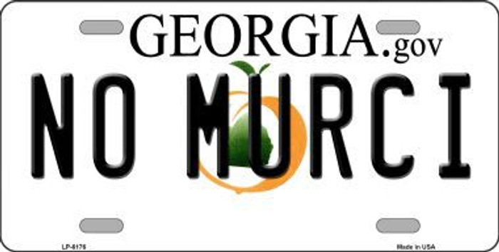 No Murci Georgia Novelty Metal License Plate