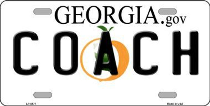 Coach Georgia Novelty Metal License Plate