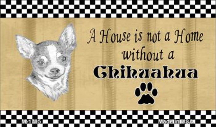Chihuahua Pencil Sketch Novelty Metal Magnet M-1705