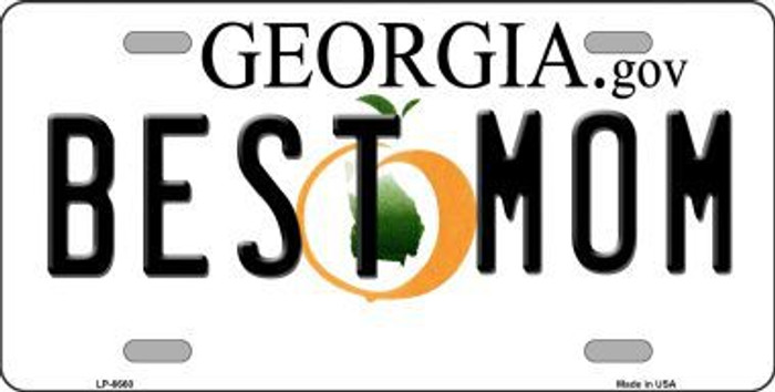 Best Mom Georgia Novelty Metal License Plate