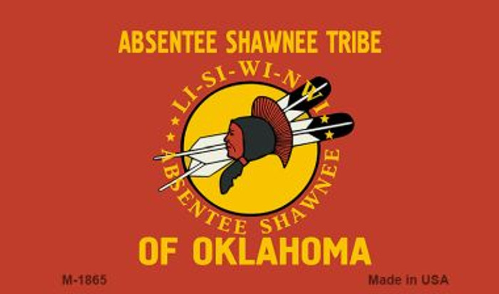 Absentee Shawnee Tribe Novelty Metal Magnet M-1865