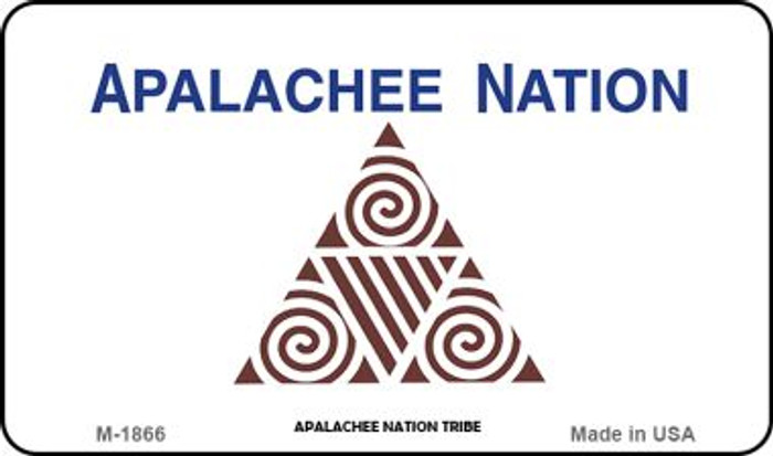 Apalachee Nation Tribe Novelty Metal Magnet M-1866