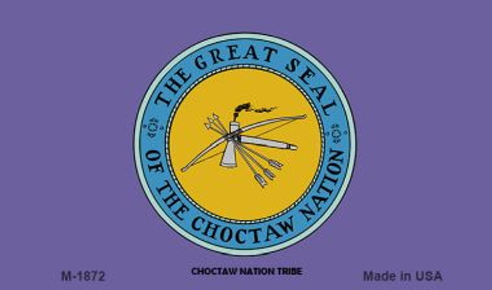 Choctaw Nation Tribe Novelty Metal Magnet M-1872