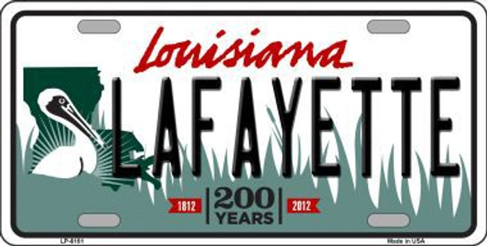 Lafayette Louisiana Novelty Metal License Plate