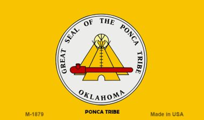 Ponca Tribe Novelty Metal Magnet M-1879
