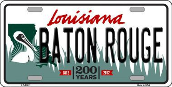 Baton Rouge Louisiana Novelty Metal License Plate