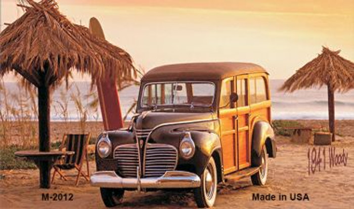 1941 Woody On The Beach Novelty Metal Magnet M-2012