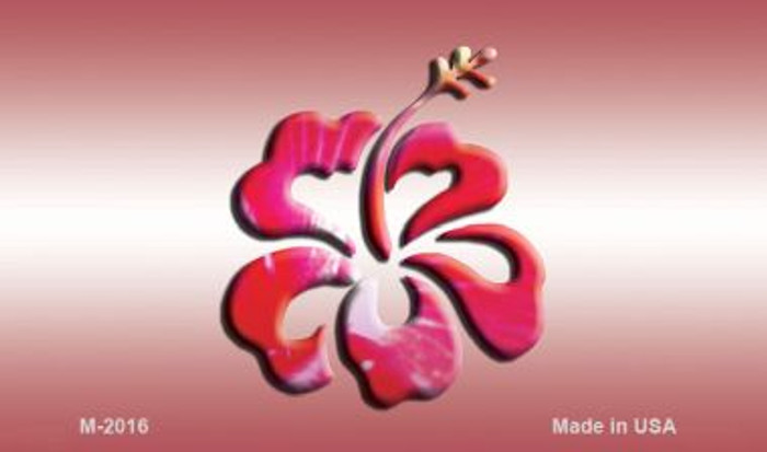 Hibiscus Flower Novelty Metal Magnet M-2016