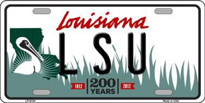 LSU Louisiana Novelty Metal License Plate