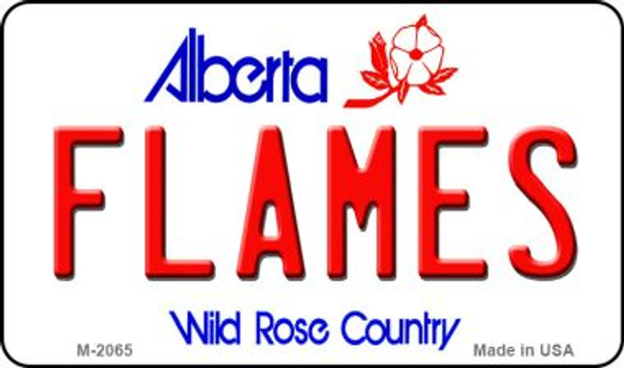 Flames Alberta State Novelty Metal Magnet M-2065