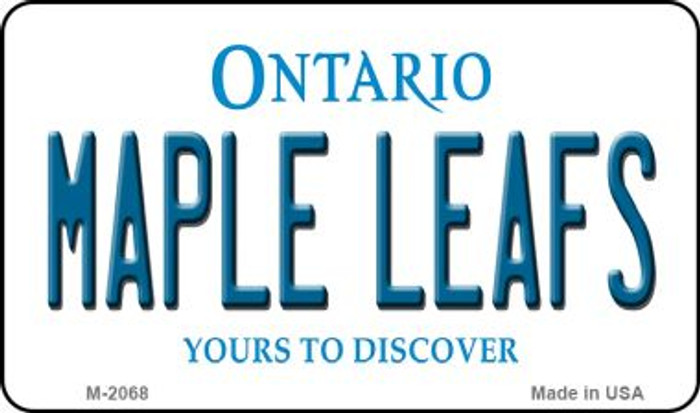 Maple Leafs Ontario State Novelty Metal Magnet M-2068