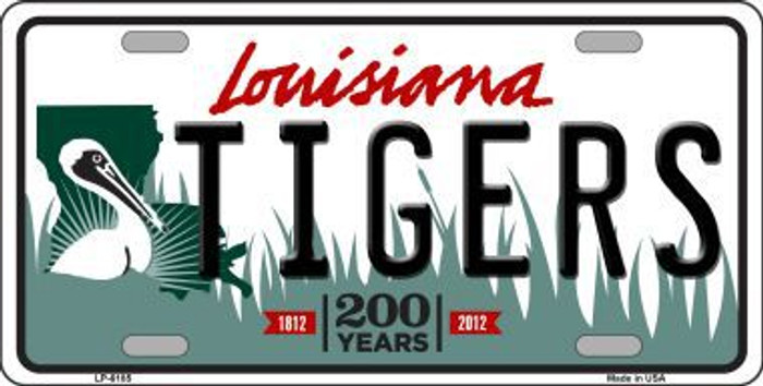 Tigers Louisiana Novelty Metal License Plate