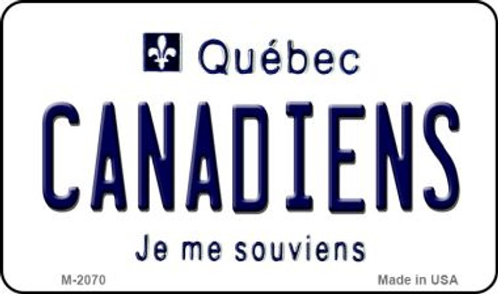 Canadiens Quebec State Novelty Metal Magnet M-2070