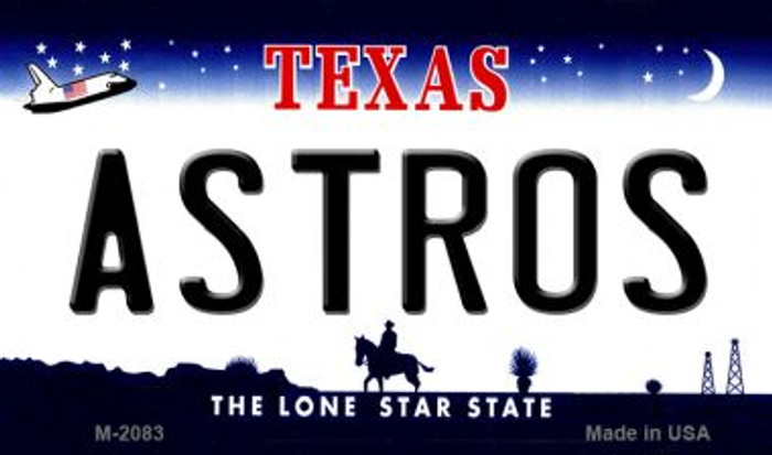 Astros Texas State Novelty Metal Magnet M-2083