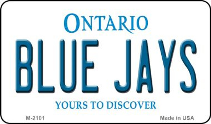 Blue Jays Ontario State Novelty Metal Magnet M-2101