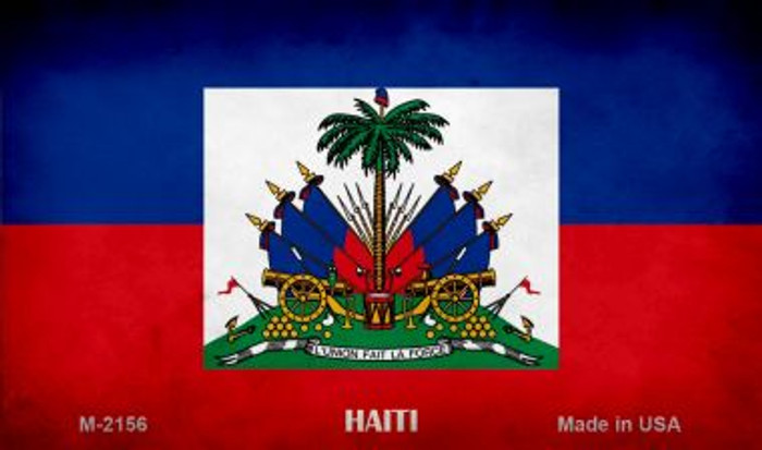Haiti Flag Novelty Metal Magnet M-2156