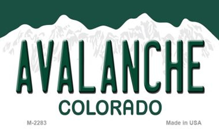 Avalanche Colorado State Novelty Metal Magnet M-2283