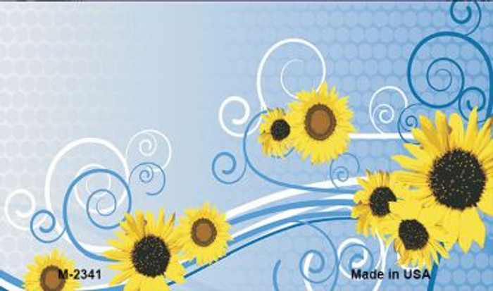 Sunflowers Novelty Metal Magnet M-2341