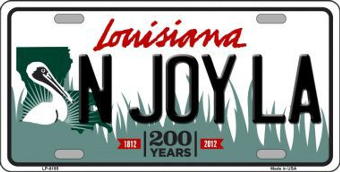 N Joy La Louisiana Novelty Metal License Plate