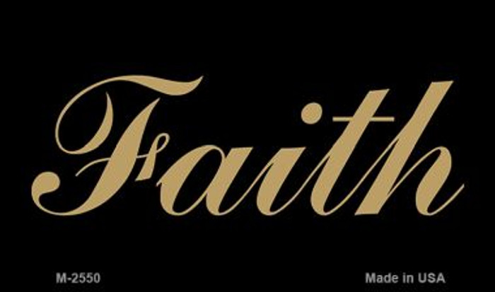 Faith Novelty Metal Magnet M-2550