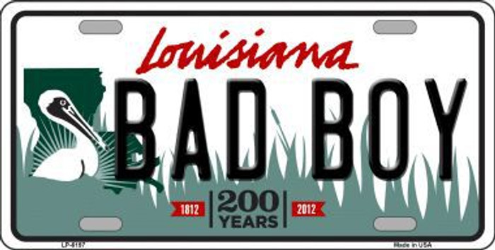 Bad Boy Louisiana Novelty Metal License Plate
