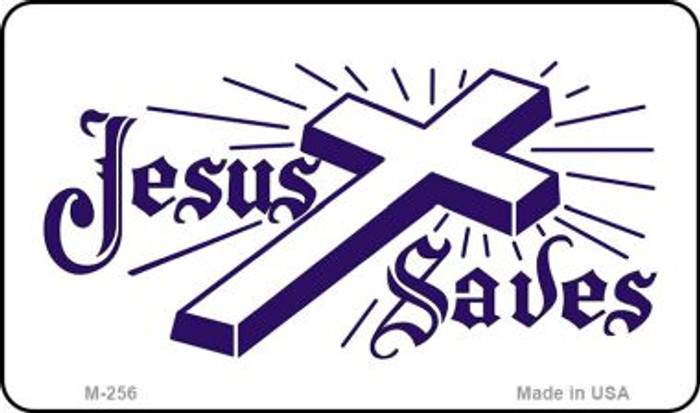 Jesus Saves Novelty Metal Magnet M-256