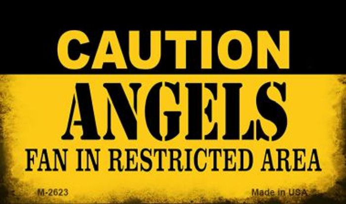 Caution Angels Fan Area Novelty Metal Magnet M-2623