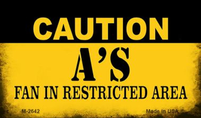 Caution A's Fan Area Novelty Metal Magnet M-2642